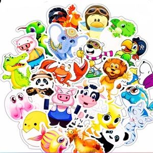 50 pcs cute animals stickers